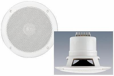 MONACOR EDL-206, Weatherproof flush-mount PA speakers 20/15/10/5/2,5W RMS