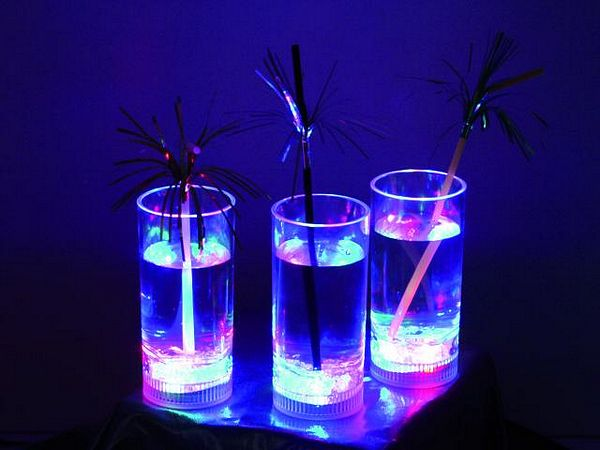 DECO LED glass 14cm approx 250ml multico, discoland.fi