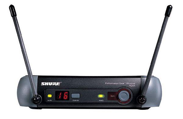 SHURE PGX24E/BETA58, Käsilähetinjärjestelmä, BETA58-mikrofonikapseli, PGX2-lähetin ja PGX4-vastaanotin