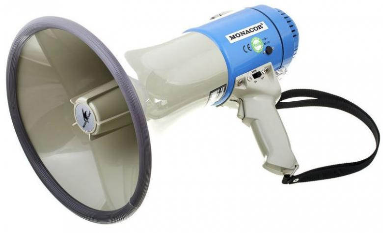 MONACOR TM-25 megafoni 25W, 115dB plugi , discoland.fi