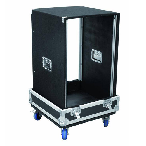OMNITRONIC Special side rack case 16U with castors
