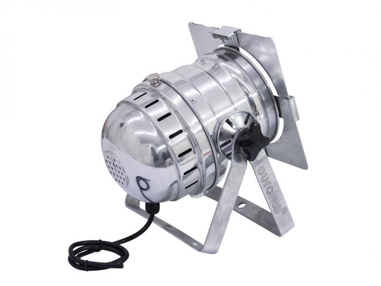 EUROLITE PAR-56 Lyhyt Lattia spotti alumiinin värinen. Tämä lattia spotti on tarkoitettu 300-500W polttimolle, joka tilattava erikseen. Mitat 270 x 230 mm sekä paino 1,5kg.