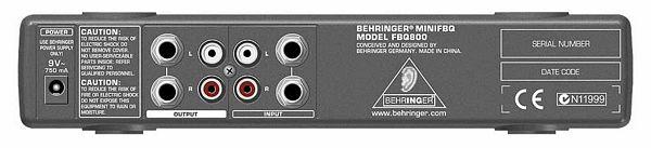 BEHRINGER MINIFBQ FBQ800 Ultrakompakti 9-kanavainen graafinen ekvalisaattori FBQ:lla