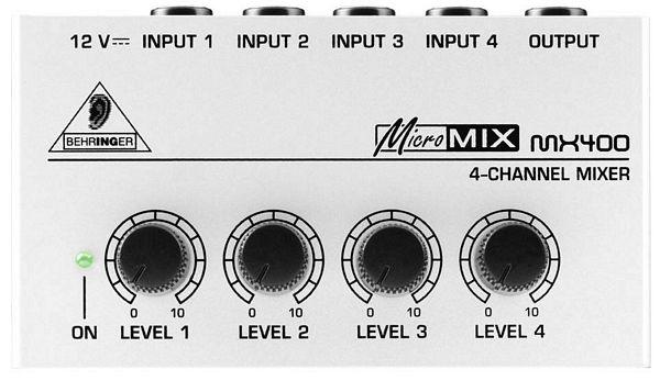 BEHRINGER MICROMIX MX400 Ultrakompakti 4-kanavainen linjamixeri