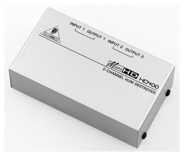 BEHRINGER MICROHD HD400 Ultrakompakti 2-kanavainen huminanpoistaja