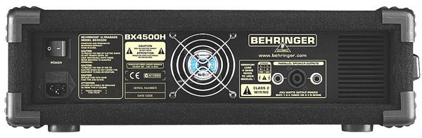BEHRINGER ULTRABASS BX4500H 450-Watt Bass Amplifier Head with Shape Filter and Ultrabass Processor