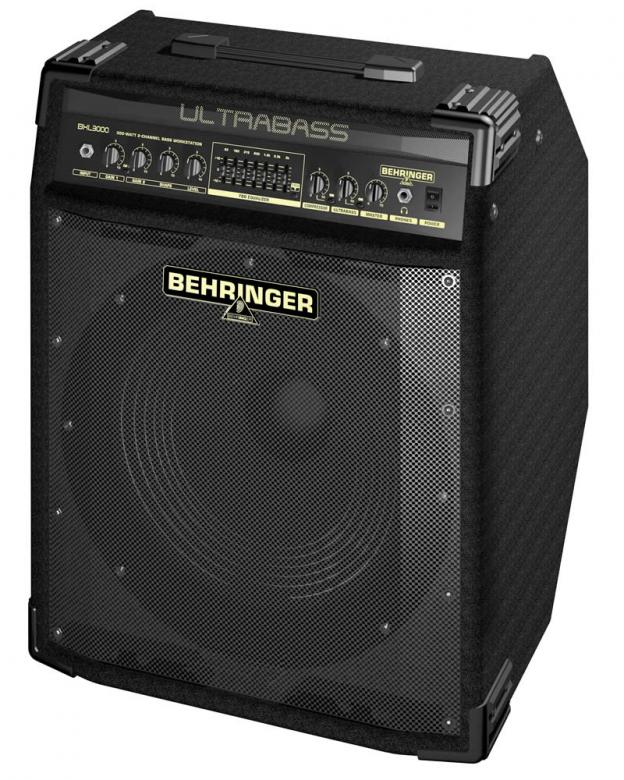 "BEHRINGER ULTRABASS BXL3000A 300W 15"" Bugera-elementti Bass Workstation with Original BUGERA™ 15' Aluminum-Cone Speaker, FBQ Spectrum Analyzer, Compressor and Ultrabass Processor"