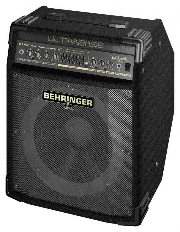 "BEHRINGER ULTRABASS BXL1800 180W 12"" Bugera-elementti 2-Channel Bass Workstation with Original BUGERA™ 12' Aluminum-Cone Speaker, FBQ Spectrum Analyzer, Compressor and Ultrabass Processor"