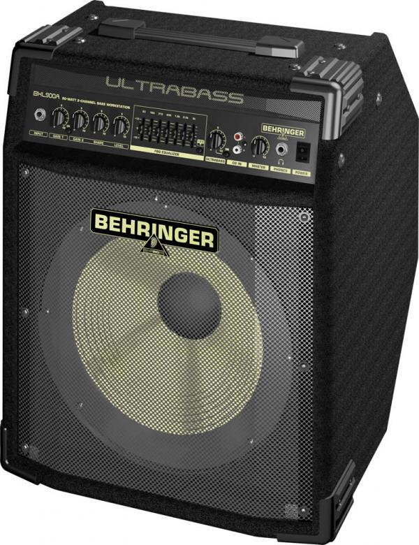 "BEHRINGER ULTRABASS BXL900A 90W basso combo 12"" Bugera- kaiutin elementti. Todella hieno basso työasema  Bass Workstation with 12"