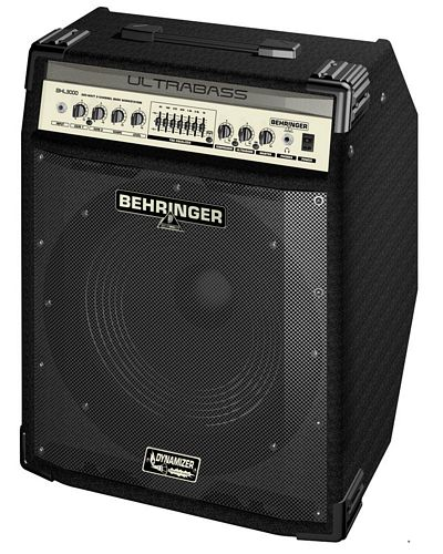 BEHRINGER ULTRABASS BXL3000 300-Watt 2-Channel Bass Workstation with Original BUGERA™ 15' Speaker, FBQ Spectrum Analyzer, Compressor and Ultrabass Processor