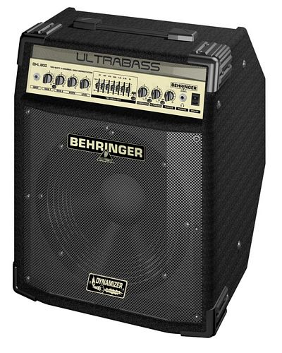 BEHRINGER ULTRABASS BXL1800 180-Watt 2-Channel Bass Workstation with Original BUGERA™ 12' Speaker, FBQ Spectrum Analyzer, Compressor and Ultrabass Processor
