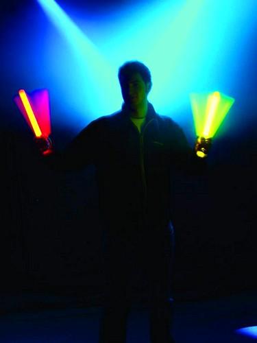 EUROLITE Glow rod set 30cm , phosphorescent, all 5 colours, 5 kpl väriä, sininen, keltainen, valkoinen, vihreä, oranssi, Valotikku, hohtava, taivuta ja saat mahtavan kirkkaan värikkään valon