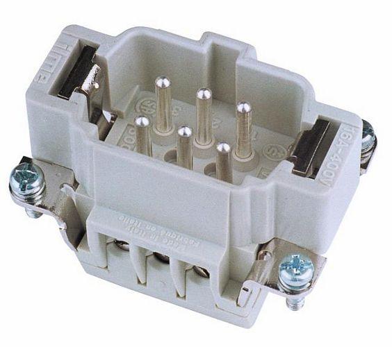 EUROLITE Plug insert 6-pole 16A, screw t, discoland.fi