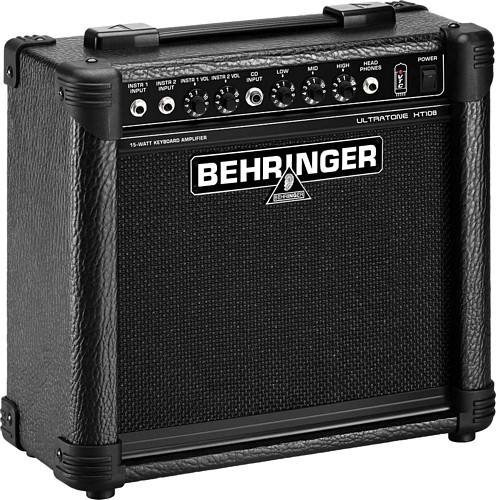 BEHRINGER ULTRATONE KT108, Kosketinsoitin vahvistin, Ultra-Compact 15-Watt Keyboard Amplifier with VTC-Technology