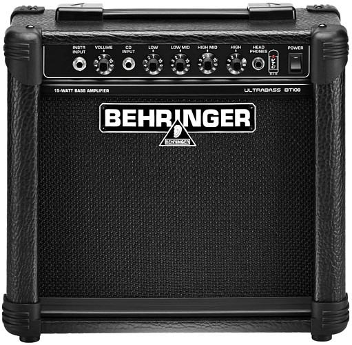 BEHRINGER ULTRABASS BT108 Basso Combo vahvistin, Ultra-Compact 15-Watt Bass Amp with VTC-Technology