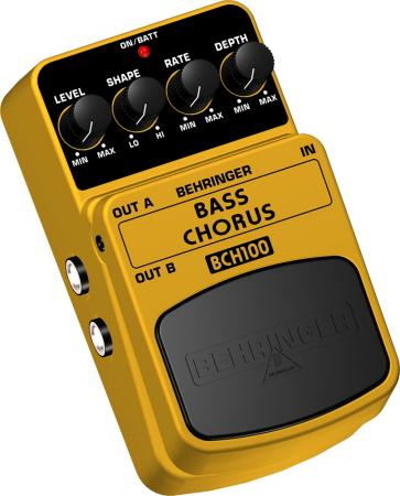 BEHRINGER BASS CHORUS BCH100 Ultimate Stereo Chorus Effects Pedal