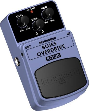 BEHRINGER BLUES OVERDRIVE BO100 Classic Overdrive Effects Pedal