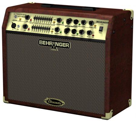 BEHRINGER ULTRACOUSTIC ACX1800 180-Watt 2-Channel Stereo Acoustic Instrument Amplifier with Dual FX and FBQ Feedback Detection, Mic input