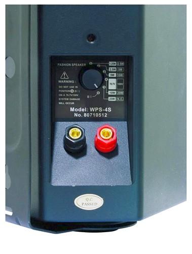 OMNITRONIC WPS-4S PA wall speaker black 100V linjaan RMS 2,5/5/10/20W