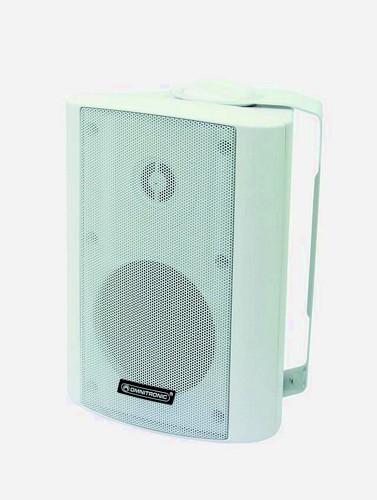 OMNITRONIC WPS-4S PA wall speaker white 100V linjaan RMS 2,5/5/10/20W