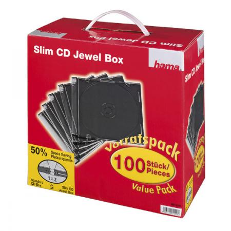 HAMA CD-box Slim 100-pack Box, discoland.fi