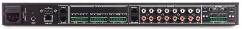 DBX ZonePro 1261 AV-mixeri/prosessori, 12 sisääntuloa, 6 zone-out, DriveRack DSP, kuten 1260, mutta ilman näyttöä