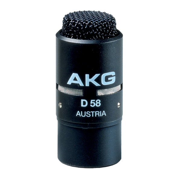 AKG D58E Dynaaminen lähipuhemikrofoni, musta. Close-talking dynamic microphone.