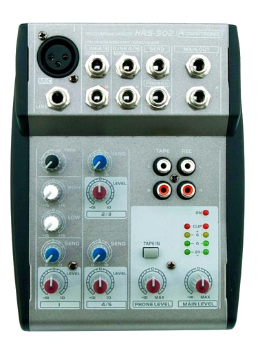 OMNITRONIC HRS-502 Compact 5-channel home-recording mixer