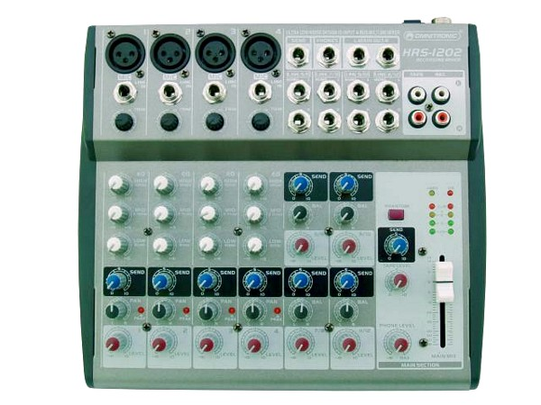 OMNITRONIC HRS-1202 Compact 12-channel home-recording mixer