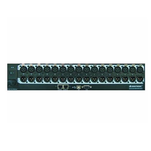 OMNITRONIC DXM-1616 Digital Matrix ohjain 16 sisään sekä 16 ulos joustavalla signaalin muokkauksella. Kanavakohtainen kompressori-limitteri, eq, noise gate säädettävissä joka kanavalle. Soveltuu hotelleihin, kongressi tiloihin sekä kauppakeskuksiin jne. kun pitää ääntä ssäätää laajoille alueille. Mitat 482 x 88 x 230 mm sekä paino 5,3kg.