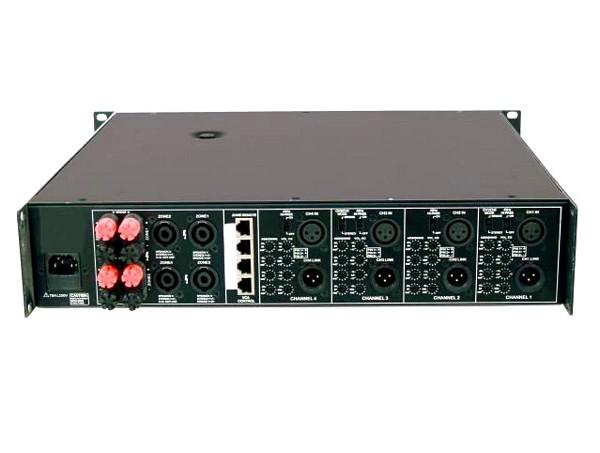 OMNITRONIC MCR-4250 Amplifier, 4x 225W 4ohms, 4-channel PA-amplifier with mixing functions, Monikanavapäätevahvistin mikseritoiminnolla