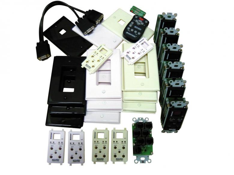 OMNITRONIC MCS-1250 12x 50W 6-alueinen vahvistin, Zone vahvistin-mikseri. 6 stereo sisäänmenoa, Matrix-liitinmäärittelyillä voidaan ohjata joka kanavaa erikseen RJ45 kaapeloinneilla. Mukana 6kpl seinäpaneeleita, joilla voidaan säätää erikseen huonekohtaisesti musiikkia. IR-kauko-ohjain, stereo 4ohmia tai 100V 12x 50W, stereo 8ohmia 12x 25W, 8ohmia siltakytkentä 6x 100W. Erittäin monipuolisesti ohjattavissa ja kytkettävissä oleva vahvistin. Mitat 482 x 420 x 102 mm sekä paino 11,00kg.