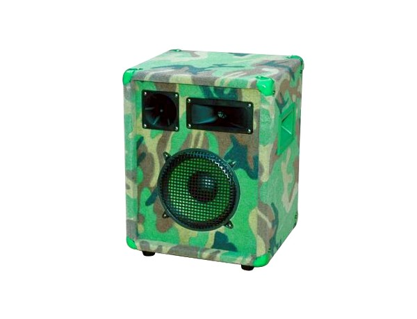 OMNITRONIC CMX-0802 3-way speaker, RMS 150 W, Max. SPL 93 dB, Rugged Full-Range speaker-system,  camouflage style, 3-way party speaker-system for disco and rock music