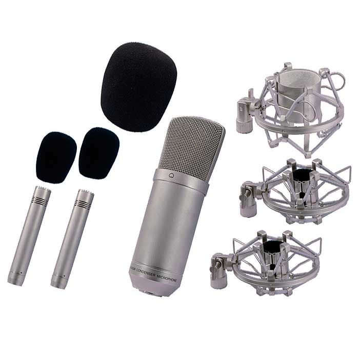 OMNITRONIC SMP-300 Mikrofonisetti. SMP-300 Studio microphone set. Professional microphone set for studio recording and live applications