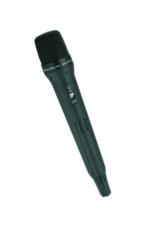 OMNITRONIC HM-105 Langaton mikrofoni WASM 05 sarjaan, pelkkä mikrofoni langattomiin järjestelmiiin. UHF taajuudet lupavapaat. 16kpl valittavia taajuuksia.