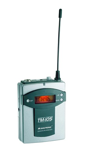 OMNITRONIC TM-105 Transmitter SET W.A.M.S-05, optional pocket transmitter for W.A.M.S-04