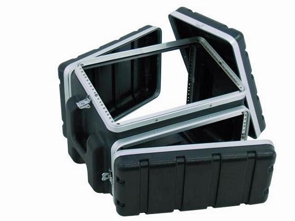 OMNITRONIC Combi case plastic 6/4/6 U, Professional hard-sided flight case for 483 mm units (19