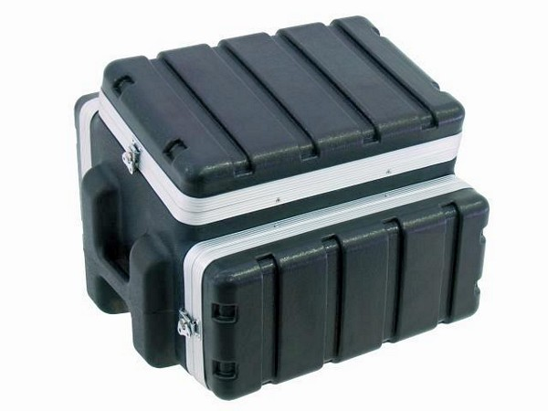 OMNITRONIC Combi case plastic 6/4/6 U, Professional hard-sided flight case for 483 mm units (19