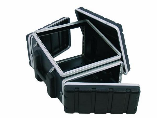OMNITRONIC Combi case plastic 10/4/6 U, Professional hard-sided flight case for 483 mm units (19