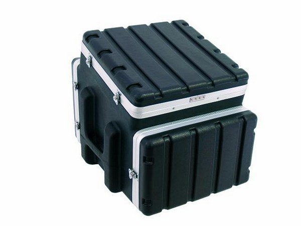 OMNITRONIC Combi case plastic 10/4/6 U, Professional hard-sided flight case for 483 mm units (19