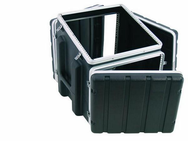 OMNITRONIC Combi case plastic 10/8/10U, Professional hard-sided flight case for 483mm units (19