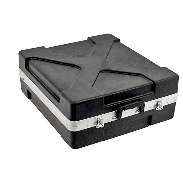 OMNITRONIC Kuljetuslaatikko mikserille, ABS-muovia. Mixer case plastic variable 12U, Professional hard-sided flight case for 483 mm units (19