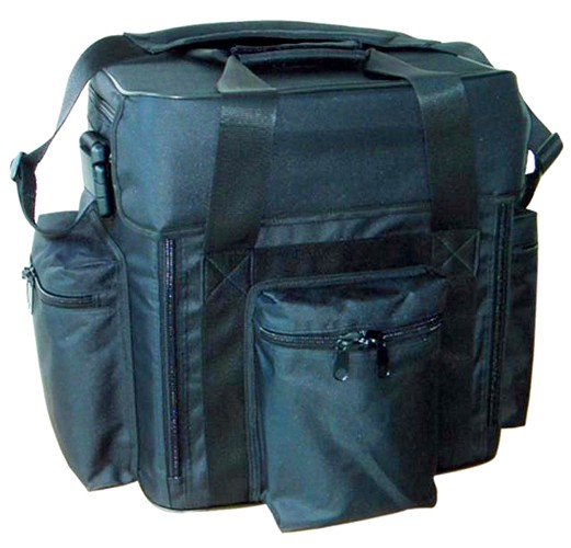 OMNITRONIC Record bag FB-90F black, Pure luxury with flap front!