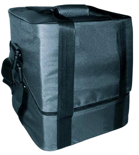OMNITRONIC Record bag FB-90HS black, Pure luxury with diagonally cut top edge and removable 50/50 lid!