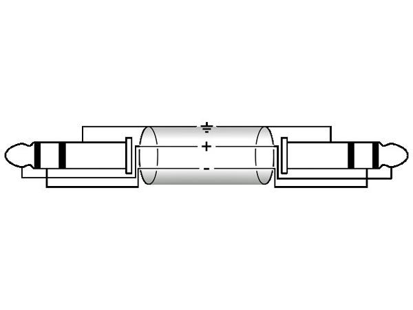 OMNITRONIC Loppu. KS-15 Cable, Plugi-kaapeli Jack Plug 6,3mm stereo to Jack Plug 6,3mm stereo, 1,5m, black