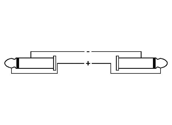 OMNITRONIC Kaiutinkaapeli. Speaker Cable Jack Plug 6,3mm to Jack Plug 6,3mm, 10m, 2x2,5mm, black