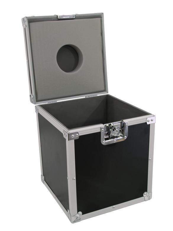OMNITRONIC Kuljetuslaatikko 30cm peilipallolle. Laatikon mitat 340 x 340 x 410 mm sekä paino 5,0kg. kantavuus 25kg.