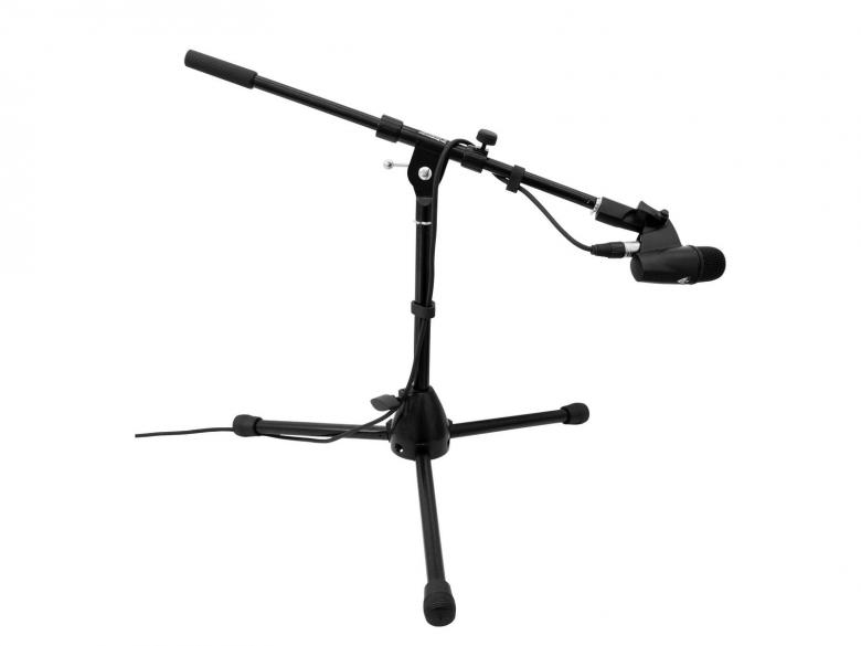 OMNITRONIC LOPPU! Mikrofoniteline puomilla lyhyt musta. Microphone small tripod with boom, black! Paino 1,6kg.