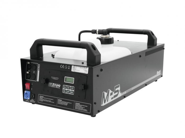 ANTARI M-5 Stage savukone 1500W DMX tehokas ja yhtäjaksoinen savun tuotto, kauko-ohjaimella ja DMX-ohjauksella, LED-toimintonäyttö ja ohjauspaneeli laitteen takana. Tankin koko 10L sekä tuotto 570 m³/min. Tässä koneessa jatkuva savun tuotto. Tehty ammattikäyttöön. Mitat 659 x 319 x 270 mm sekä paino 18kg.
