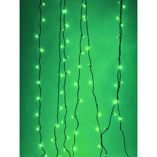 EUROLITE LED garland 230V 200 green LEDs 36m, With Controller, Light chain 26m + Feed line 10 m, Exclusive LED light chain for stylish deco-effects!
